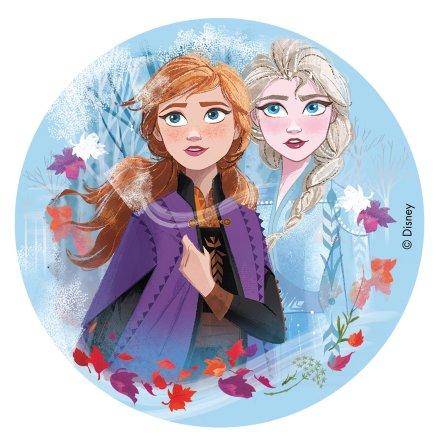 Frost II med Elsa och Anna, tårtbild
