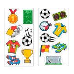 Fotbollsbilder, 15 st små dekorationer