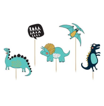 Cake Toppers Dinosaur, set/5