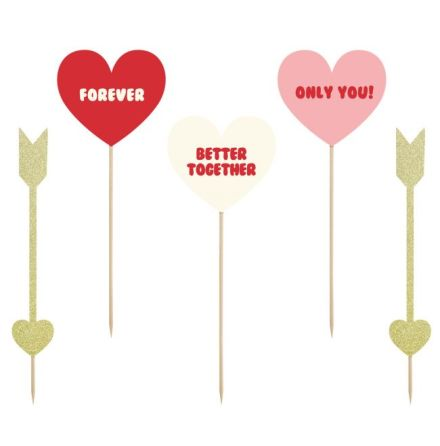 Cake Toppers Love, set/5