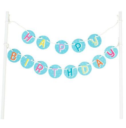Cake Banner Happy Birthday