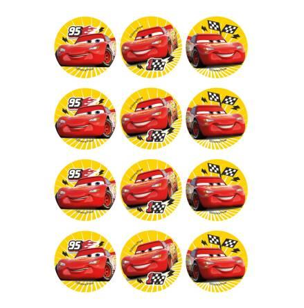 Blixten McQueen, 12 st muffinsbilder