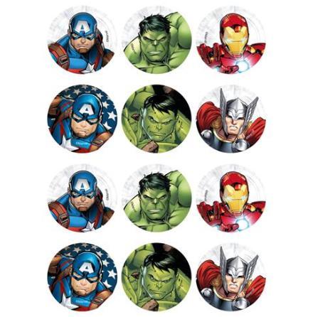 Avengers, 12 st muffinsbilder