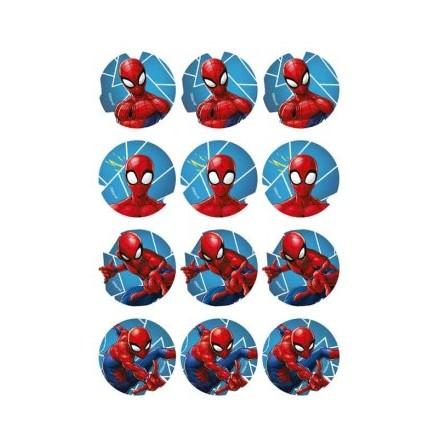 Spindelmannen, 12 st muffinsbilder