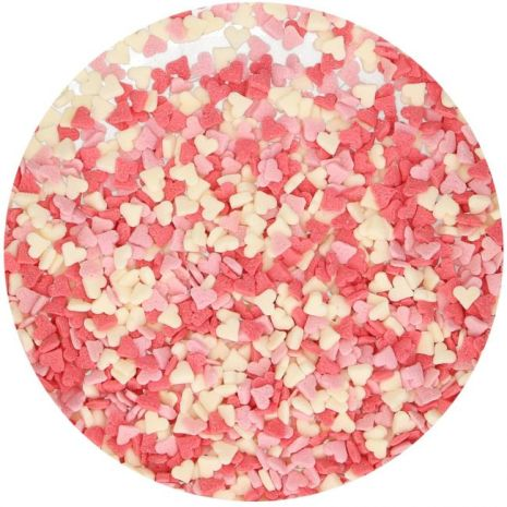 Hearts Pink/White/Red Strössel