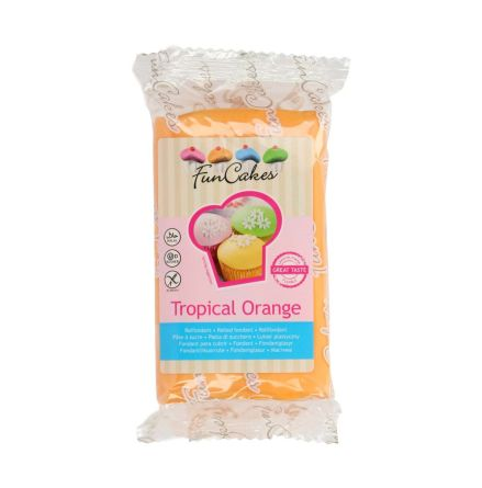 Sockerpasta Tropisk Orange, 250 g
