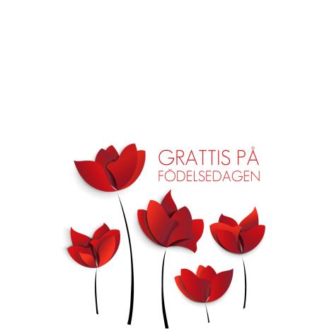 Grattis röda blommor