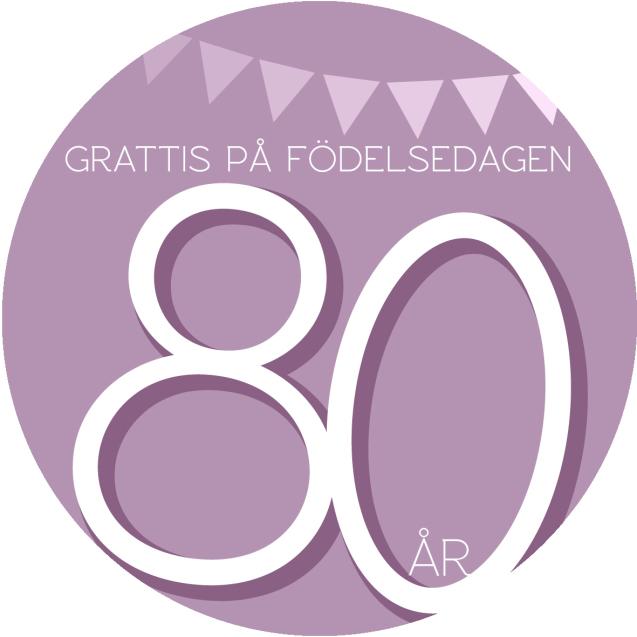 Tårtbilder till 80 års dagen