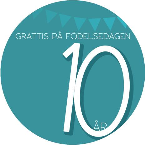 10 år Grön