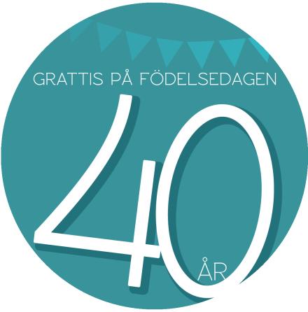 40 år Grön