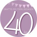 40 år Rosa