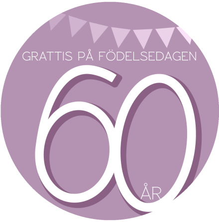 60 år Rosa