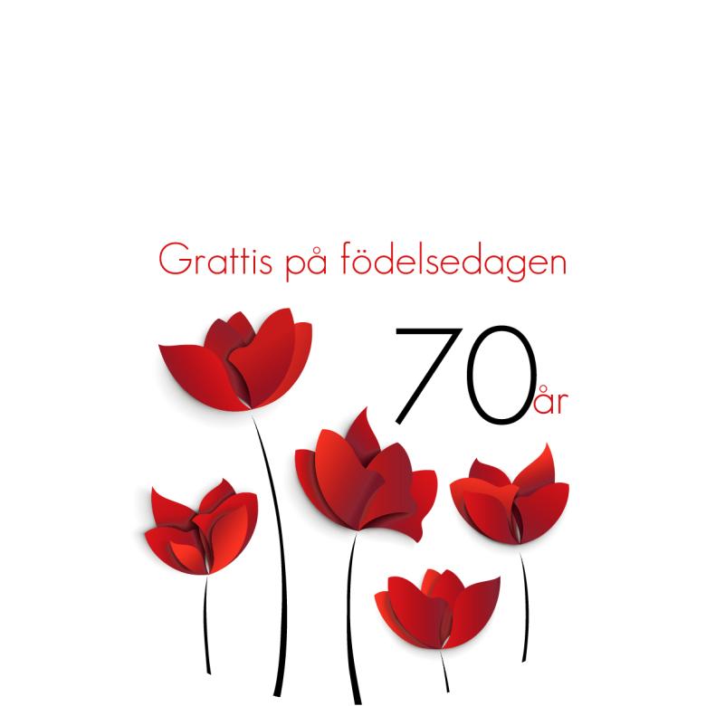grattis 70 år 70 år Röda blommor grattis 70 år