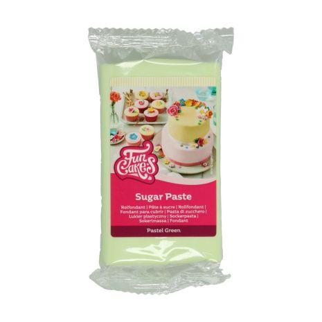 Sockerpasta Pastell Grön, 250 g