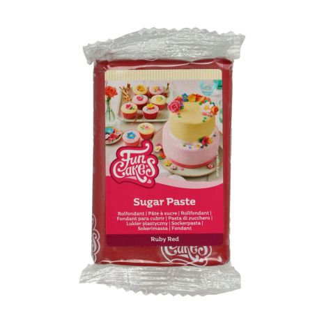 Sockerpasta Vinröd, 250 g
