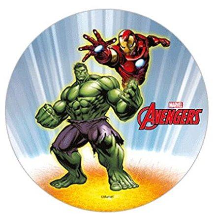 Avengers Hulken & Iron Man Tårtbild