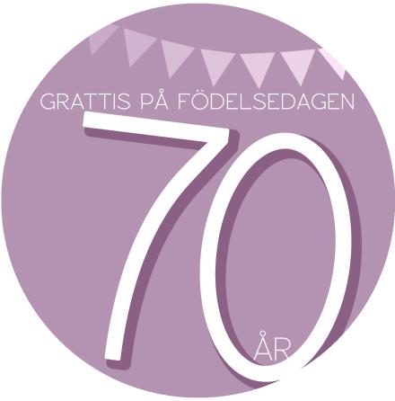 70 år Rosa