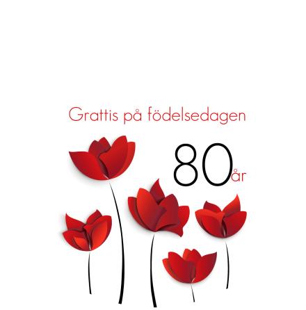 80 år röda blommor