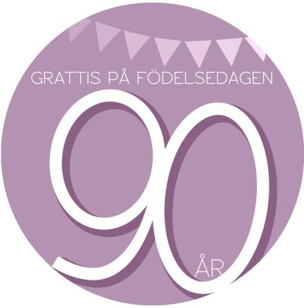 90 år Rosa