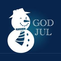 Snögubbe God Jul
