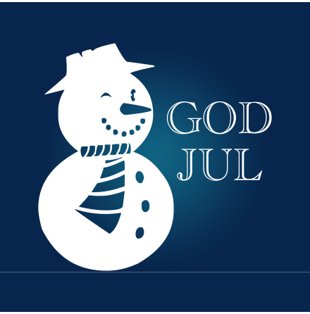 Snögubbe God Jul