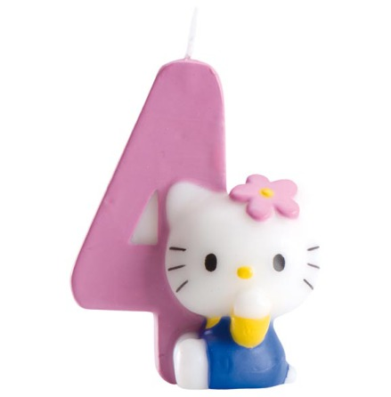 Hello Kitty, tårtljus 4 år