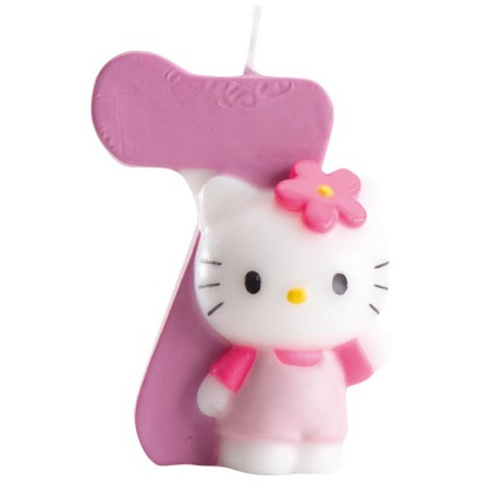 Hello Kitty, tårtljus 7 år