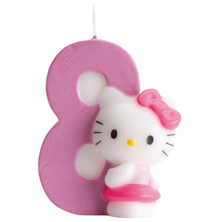 Tårtljus Hello Kitty 8 år