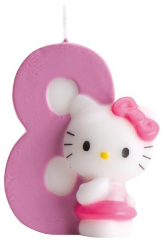 Hello Kitty, tårtljus 8 år