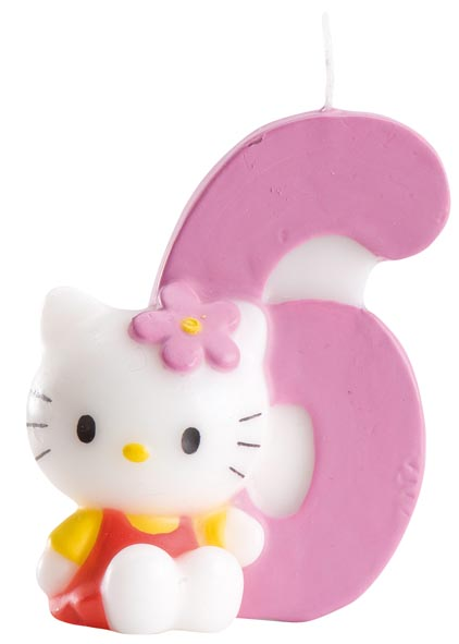 Hello Kitty siffertårtljus 6 år