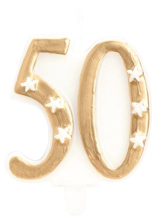 fira 50 år Fira 50 år med rätt tårtljus i guld   35 kr fira 50 år