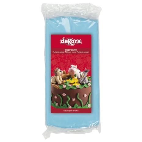 Sockerpasta ljusblå, 250 g