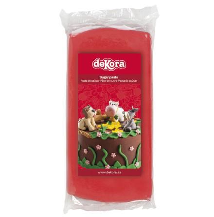 Sockerpasta röd, 250 g