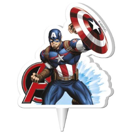 Avengers Captain America tårtljus