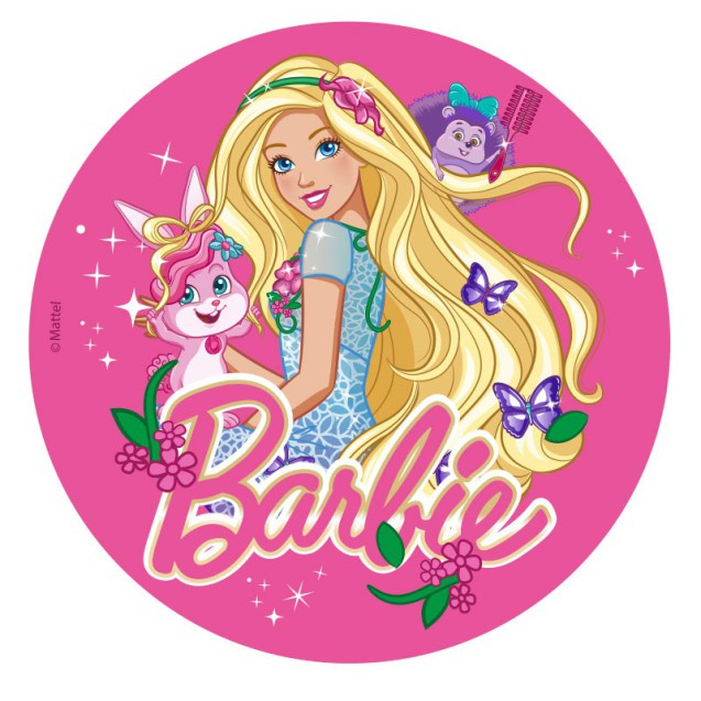Barbie tårtbild