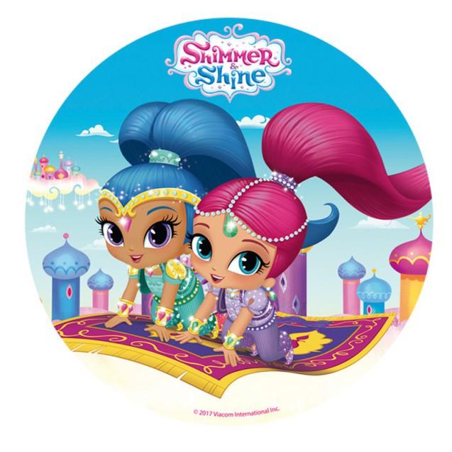 Shimmer & Shine tårtbild