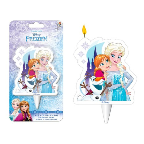 Elsa, Anna och Olof från Frost, tårtljus