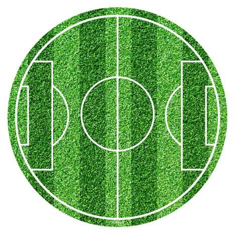 Fotbollsplan, rund