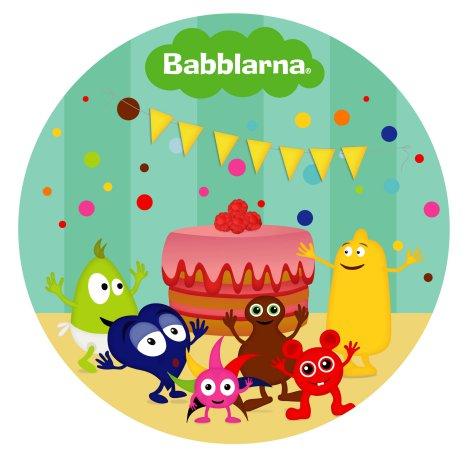 Babblarna ätbar tårtbild, sockeroblat Ø24 cm, 20-bitars