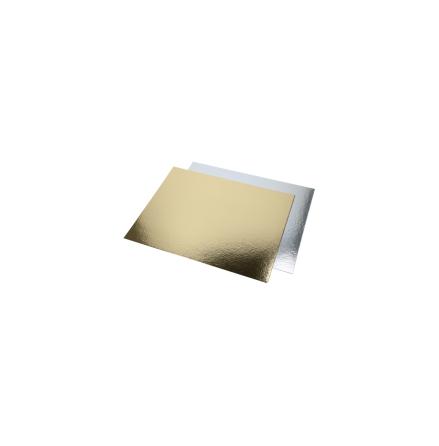 Tårtbricka, kvadrat, guld och silver