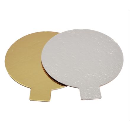 Tårtbricka med öra, guld/silver ca 8 cm