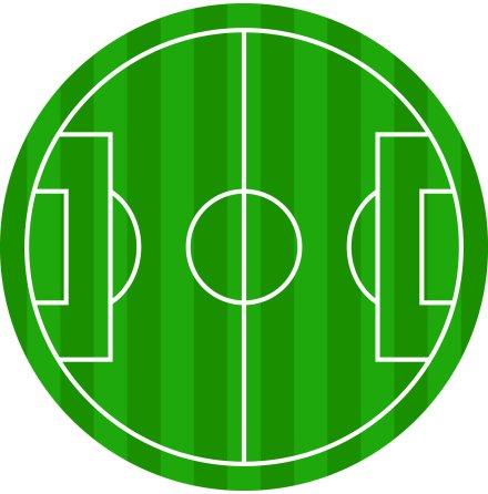 Fotbollsplan, rund ätbar tårtbild