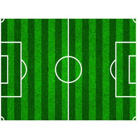 Fotbollsplan, rektangulär sockeroblat