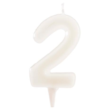 2 år fluorescerande tårtljus, vit