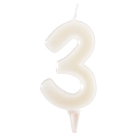 3 år fluorescerande tårtljus, vit