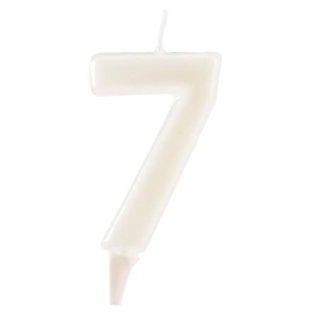 7 år fluorescerande tårtljus, vit