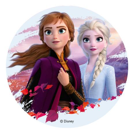 Frost Elsa & Anna, tårtbild