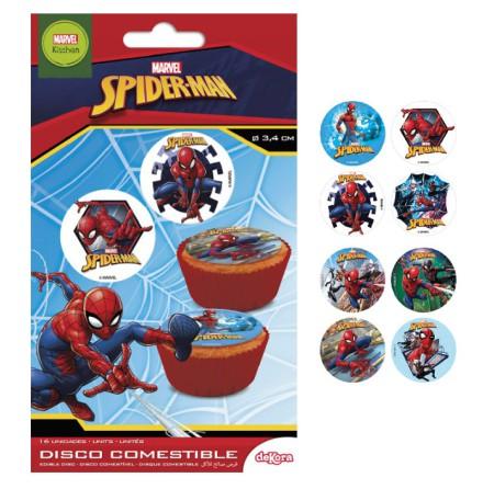 Spindelmannen, 16 st små tårtbilder